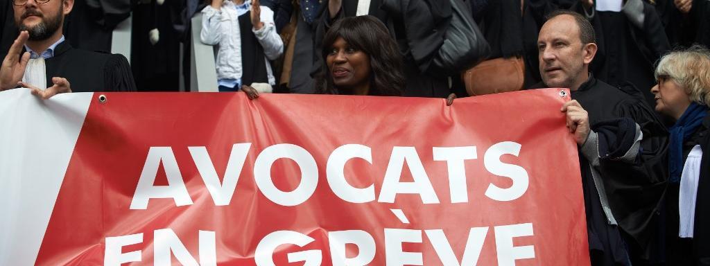 Des avocats en grève contre la réforme des retraites, à Toulouse (Haute-Garonne), le 17 février 2020.