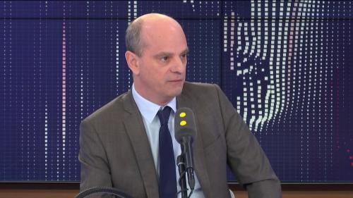 """VIDEO. Contrôle continu du bac : Jean-Michel Blanquer assure qu'il n'y a """"aucun trouble actuellement"""""""