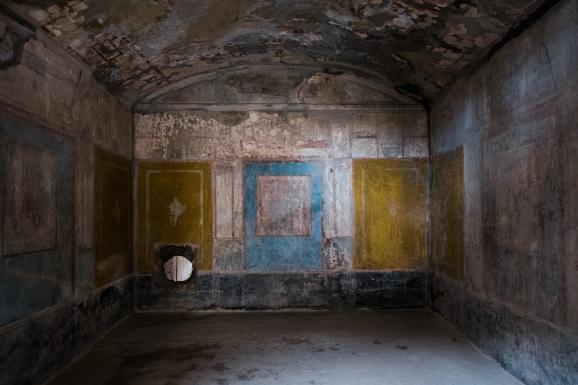 """La \""""Maison des amants\"""" à Pompéi, 18 février 2020"""