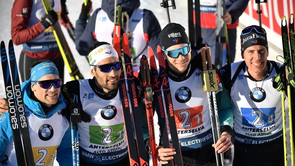 Mondiaux de biathlon : la France remporte l'épreuve de relais masculin pour la première fois depuis 2001