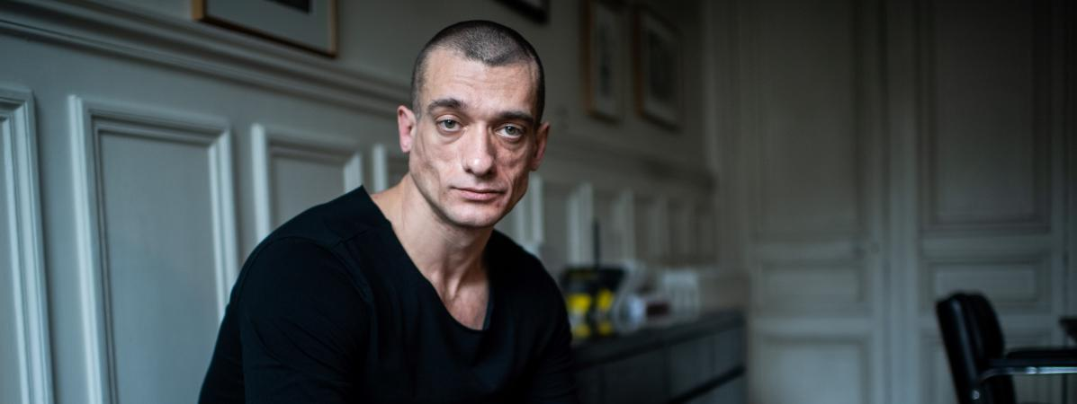 L\'activiste russe Piotr Pavlenski, à Paris, le 22 février 2020.