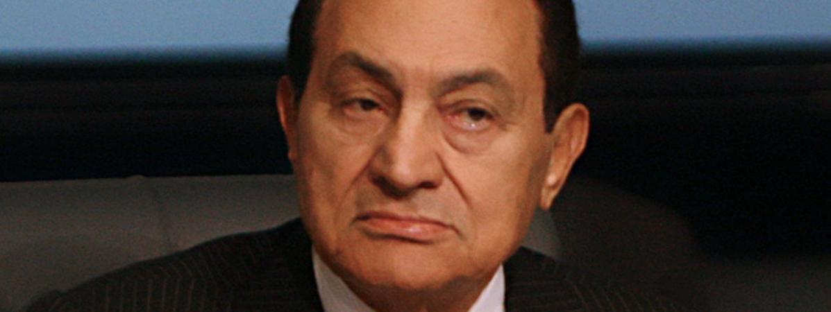 Hosni Moubarak lors d\'un sommet économique à Charm El-Sheikh (Egypte), le 19 janvier 2011.