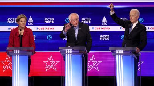 Primaires démocrates : grand favori, Bernie Sanders sous le feu des critiques de ses rivaux lors d'un nouveau débat