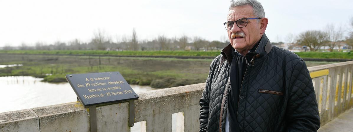 L\'ex-maire de la Faute-sur-Mer (Vendée), le 16 février 2020.