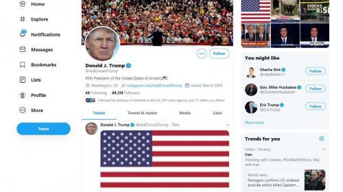 """Twitter et Facebook signalent une """"fausse"""" vidéo partagée par Donald Trump"""