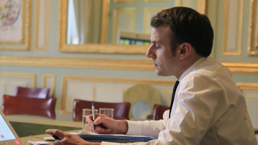 Emmanuel Macron à l\'Elysée, à Paris, le 10 mars 2020.