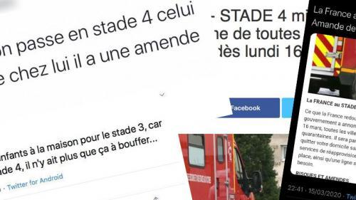 """Coronavirus : le stade 4 signifie-t-il la """"mise en quarantaine de toutes les villes de France"""" ?"""