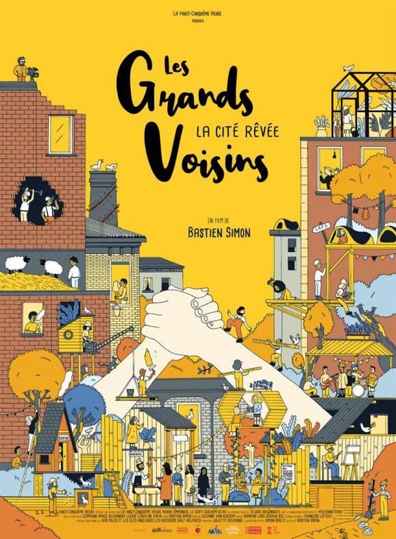 """L\'affiche de \""""Les Grands Voisins\"""", documentaire de Bastien Simon"""