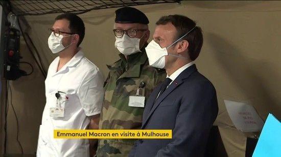 DIRECT. Suivez l'intervention d'Emmanuel Macron à 20 heures depuis l'hôpital de Mulhouse