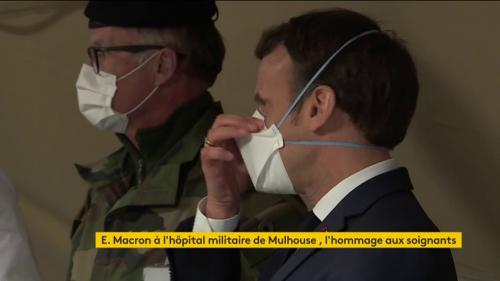 Coronavirus : à Mulhouse, Macron en appelle à l'unité et récompense les soignants
