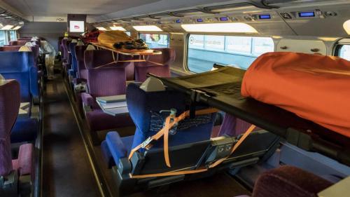 VIDEO. Coronavirus : à bord du TGV médicalisé qui a traversé la France avec 20 malades