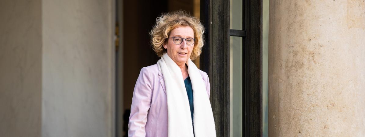La ministre du Travail, Muriel Pénicaud, quitte l\'Elysée le 29 février 2020.