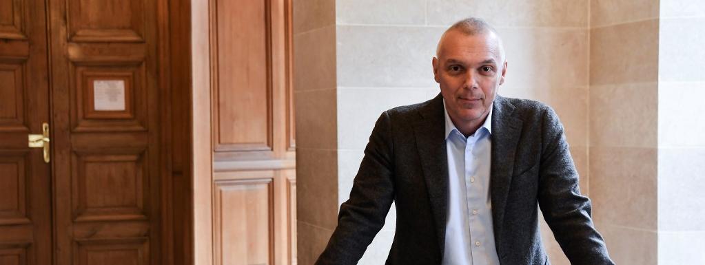 Le député Jean-François Cesarini, pris en photo le 15 janvier 2020 à l\'Assemblée nationale, est mort le 29 mars 2020.