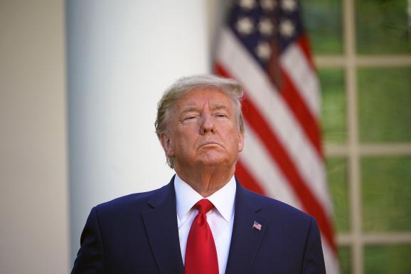 Le président américain Donald Trump le 30 mars 2020 à la Maison Blanche (Washington) lors d\'un point presse sur le coronavirus.