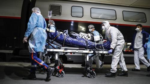 Coronavirus : des patients transférés en TGV