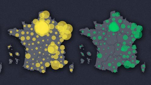 INFOGRAPHIES. Coronavirus: découvrez l'évolution de l'épidémie en France en quatre cartes animées