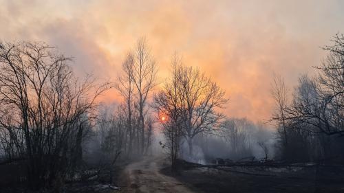 Ukraine : un feu de forêt fait grimper le niveau de radioactivité autour de la centrale de Tchernobyl