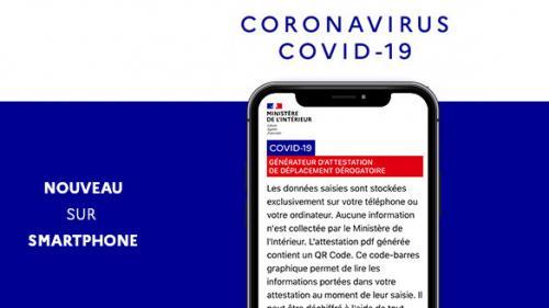 Coronavirus : voici comment utiliser la nouvelle attestation numérique de déplacement, disponible sur mobile depuis ce matin