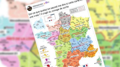 Non, une carte diffusée sur les réseaux sociaux n'annonce pas les dates du déconfinement