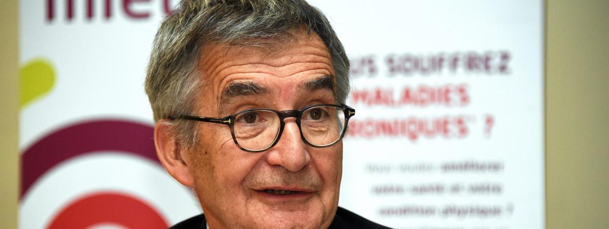 Christophe Lannelongue,directeur de l\'Agence régionale de Santé du Grand Est, le 14 mars 2019, à Nancy (Lorraine).