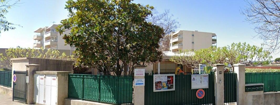 L\'école Louis-Ravet de Saint-Laurent-du-Var, dans les Alpes-Maritimes.