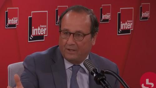 """VIDEO. Crise liée au coronavirus : François Hollande propose """"un plan en cinq points"""" avec notamment """"un chèque de confinement"""" pour soutenir le pouvoir d'achat"""