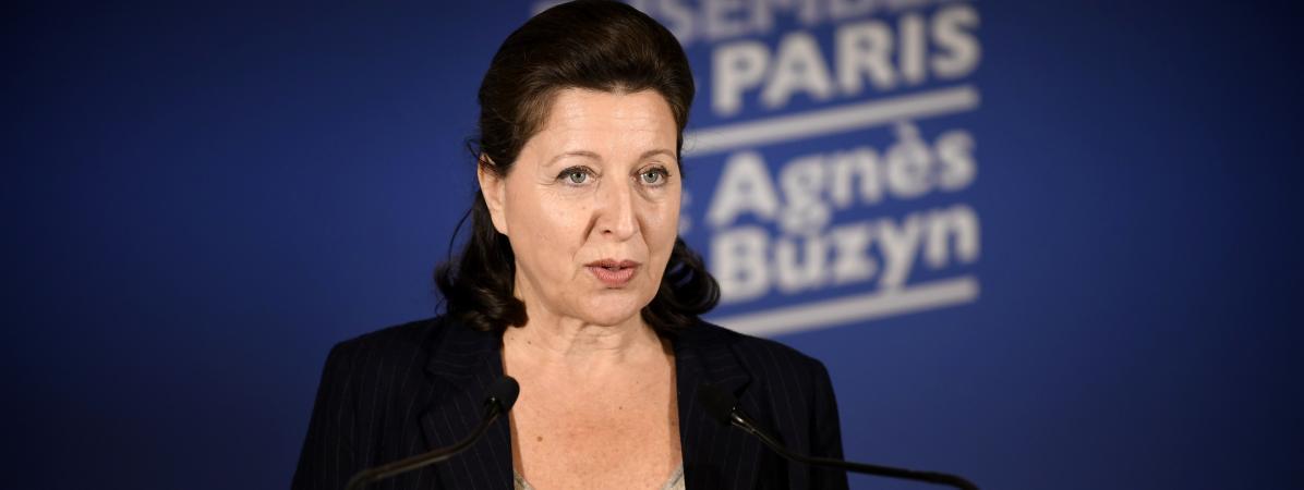La candidate de La République en marche pour les élections municipales à Paris, Agnès Buzyn, lors d\'un meeting à Paris, le 15 mars 2020.