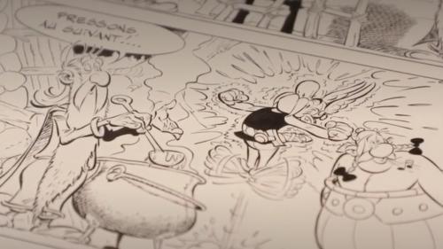 Bande dessinée : des planches originales d'Albert Uderzo vendues au profit du personnel soignant