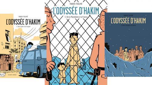 BD, bande dessinée. De la Syrie à la France, Hakim est enfin arrivé
