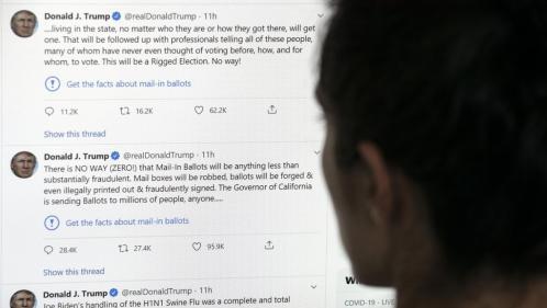 Pour la première fois, Twitter signale des messages de Donald Trump comme trompeurs