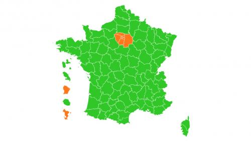 Carte du déconfinement : la France en vert, sauf l'Ile-de-France, Mayotte et la Guyane qui passent en orange