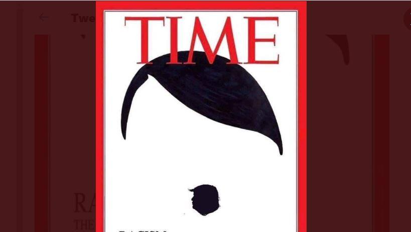 """Mort de George Floyd : non, le """"Time"""" n'est pas l'auteur de cette une qui fait le lien entre Trump, Hitler et le coronavirus"""