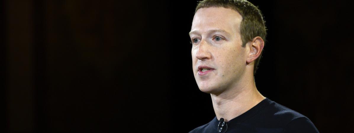 Le fondateur et patron de Facebook,Mark Zuckerberg, lors d\'une conférence à l\'universitéGeorgetown, à Washington, le 17 octobre 2019.