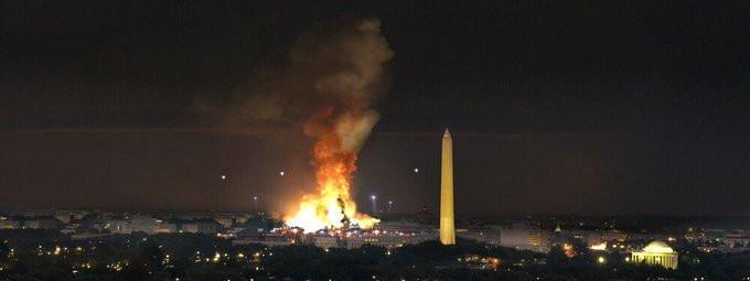 """Une scène de la série \""""Designated Survivor\"""" a été utilisée pour illustrer un soi-disant \""""black-out\"""" de Washington."""