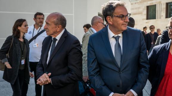 Gérard Collomb et David Kimelfeld, le 19 septembre 2019, à Lyon.