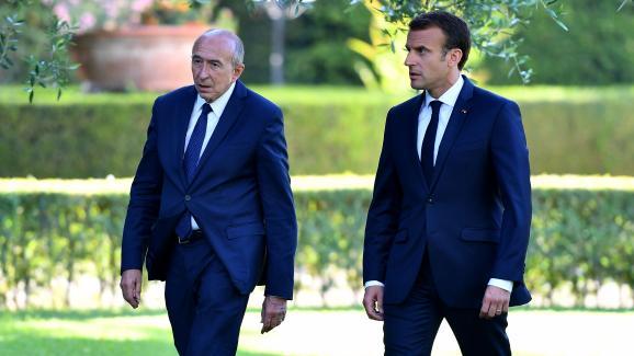 Gérard Collomb et Emmanuel Macron, le 26 juin 2018, à Rome.