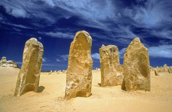Formations calcaires situé dans le parc national de Nambung, en Australie-Occidentale.