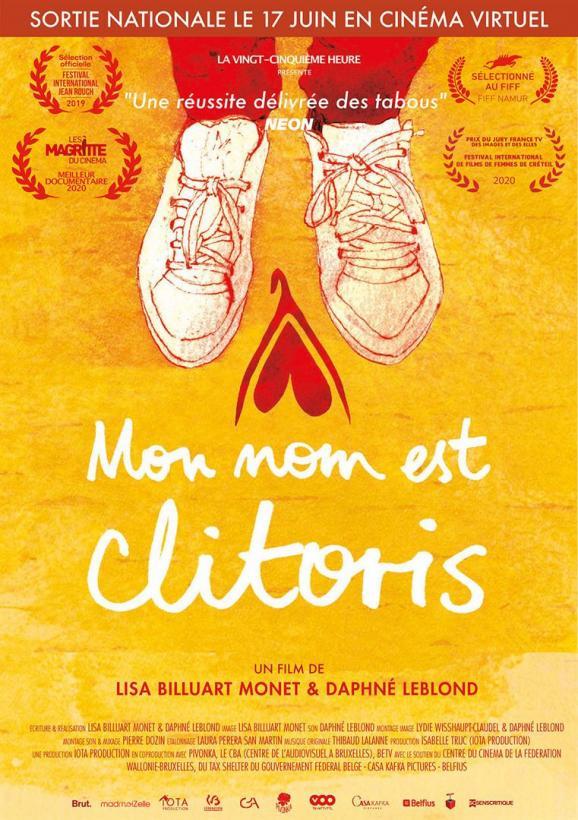 """L\'affiche de \""""Mon nom est clitoris\"""" deDaphné Leblond et Lisa Billuart Monet."""