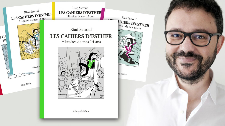 Les Cahiers d'Esther, Histoires de mes 14 ans , Riad Sattouf :  Les garçons se prennent toujours pour des caïds