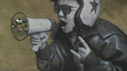 Image de couverture - Annulées, les Eurockéennes font acte de présence avec une fresque de Saype et un clip hommage de Last Train