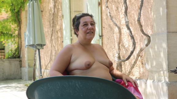 Nadine au camping de Bélézy (Vaucluse), le 6 juillet 2020.