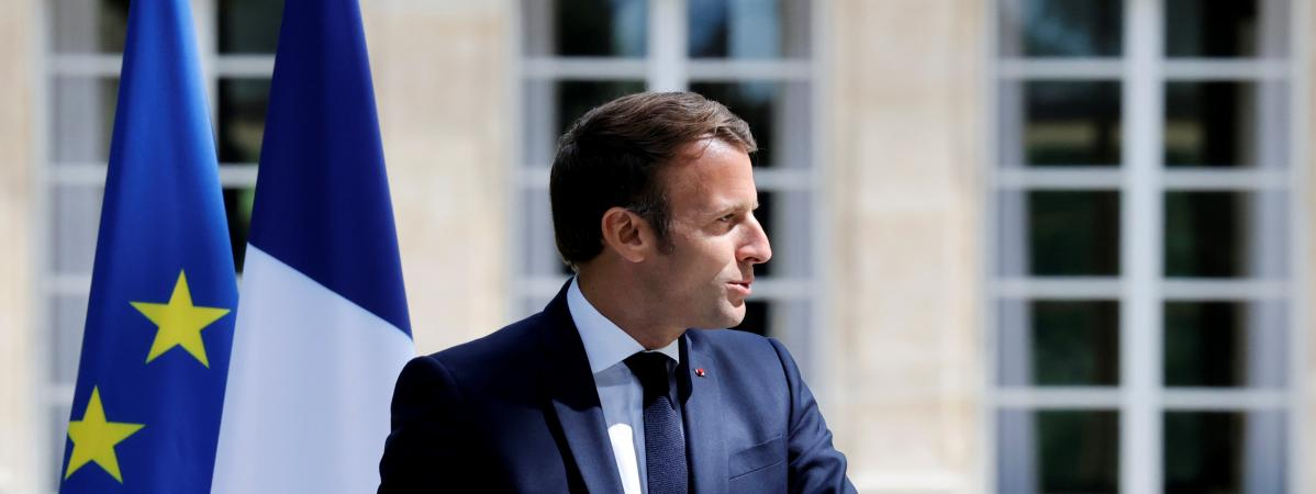 Emmanuel Macron à l\'Elysée, le 29 juin 2020.