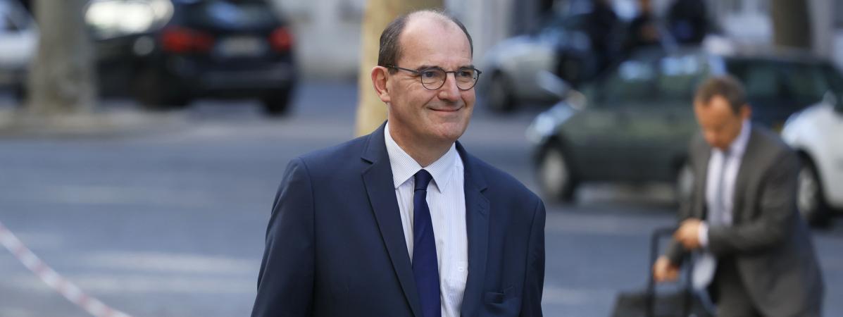Le Premier ministre Jean Castex qui arrive au séminaire gouvernemental, le 11 juillet 2020.