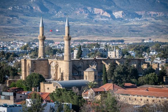Mosquée Selimiye, Nord de Nicosie, Chypre, 20 avril 2019