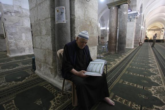 La Grande mosquée de Naplouse en Cisjordanie, 26 mai 2020