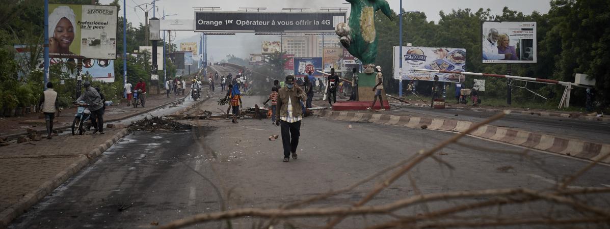 Des manifestants à Bamako (Mali) contre le pouvoir en place, le 11 juillet 2020.