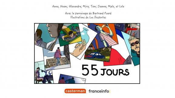 """55 days "", illustration by Luc Desportes (franceinfo / Casterman)"