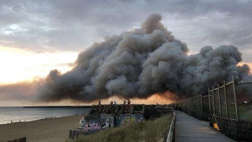 Incendie à Anglet : le feu n'est pas d'origine naturelle, selon le parquet