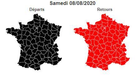 Bison Futé prévoit un samedi noir sur les routes dans le sens des départs, ce 8 août 2020.