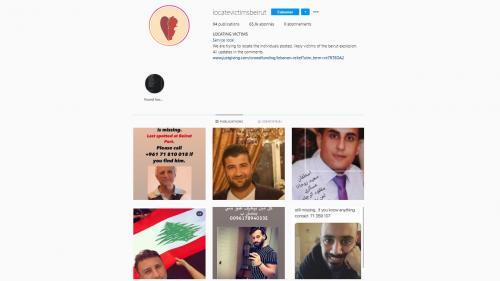 Explosions à Beyrouth : un compte Instagram publie des photos de disparus pour aider à les retrouver